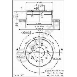 Δισκόπλακα BREMBO 08809430