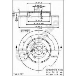 Δισκόπλακα BREMBO 08816310