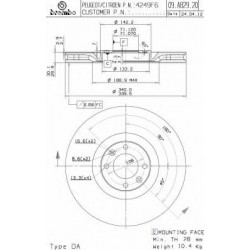 Δισκόπλακα BREMBO 09A82920