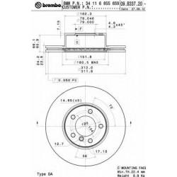 Δισκόπλακα BREMBO 09B33721