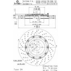 Δισκόπλακα BREMBO 09B38613