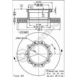 Δισκόπλακα BREMBO 09738120