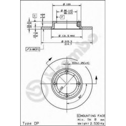 Brake Disc AP 14135