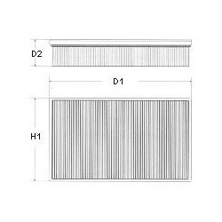 Air Filter CHAMPION U502606