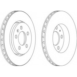 Brake Disc FERODO DDF1154