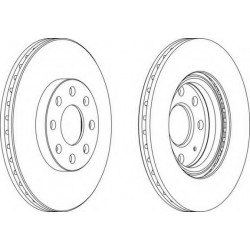 Brake Disc FERODO DDF1304