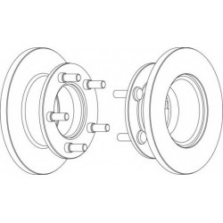 Δισκόπλακα FERODO DDF225