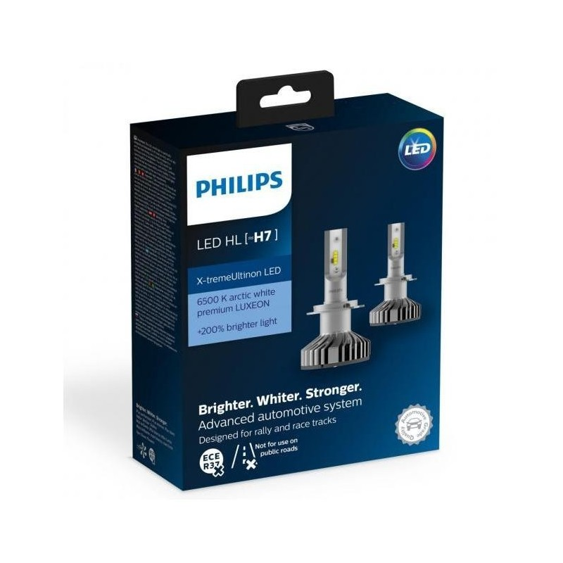 philips h7 x treme vision led 12v 25w 200 6500k 2. Black Bedroom Furniture Sets. Home Design Ideas