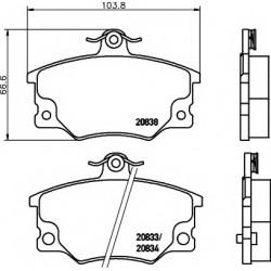 Brake Pad Set, disc brake...