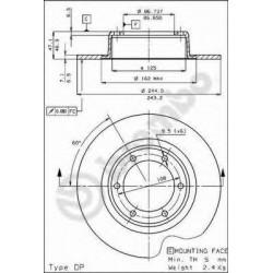 Brake Disc BREMBO 08174110